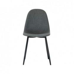 Chaise must dossier et assise en tissu pieds en acier...