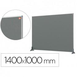 Separateur bureau nobo en tissu 1400x1000mm coloris gris