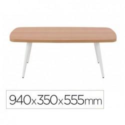 Table basse gautier rectangulaire pieds en hetre laque...