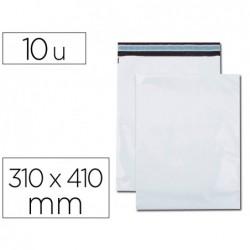 Pochette gpv polyethylene adhesive 310x410 blanc/noir...