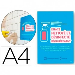Affiches adhesives avery amovible espace nettoy a4