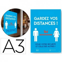 Affiches adhesives avery amovibles distance a3