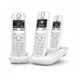 Telephone gigaset sans fil trio as690a blanc