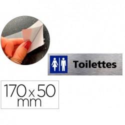Plaque de porte toilettes femmes/hommes signaletique biz...