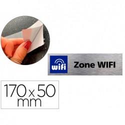 Plaque de porte zone wifi signaletique biz avec...