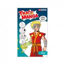 Trace-manga go manga 2 pochoirs silhouette a tracer tenue...