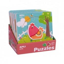 6 puzzles apli kids la croissance des animaux