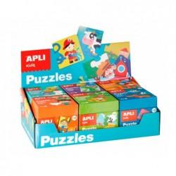 6 puzzles apli kids presentoir de 6 modeles assortis