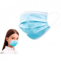 Masque enfant 3 couches fermeture avec elastique coloris...