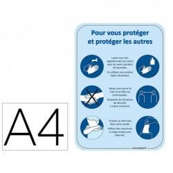 Affiche cep scolaire des gestes barrieres format a4