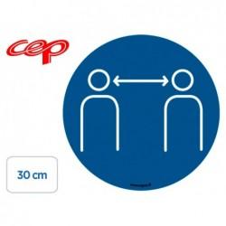 Stickers cep de signalisation respecter les distances de...