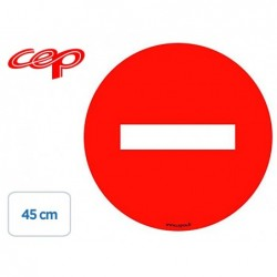 Stickers cep de signalisation du sens interdit pose au...