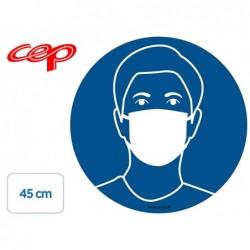 Stickers cep de signalisation port du masque obligatoire...