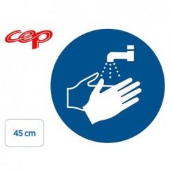 Stickers cep de signalisation de lavage des mains...
