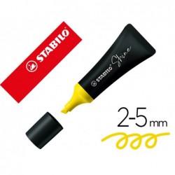 Surligneur stabilo shine forme de tube pointe  biseautee...