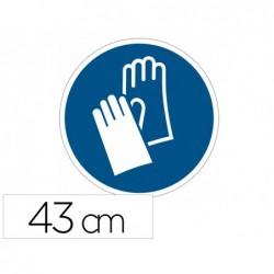 Pictogramme au sol port de gants obligatoire durable...