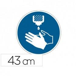Pictogramme au sol desinfectez-vous les mains durable...
