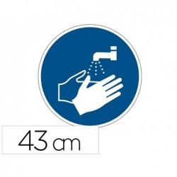 Pictogramme au sol lavez-vous les mains durable adhesif...