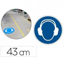Pictogramme au sol protection auditive obligatoire...