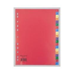 Intercalaire alpha. OD PP A4 coloré(x20)
