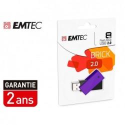 Cle usb emtec 2.0 c350 brick pivotante 8gb vitesse...