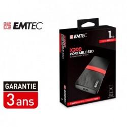 Disque dur ssd portable emtec x200 power plus usb 3.1...