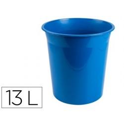 Corbeille papier q-connect plastique resistant 13l...