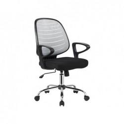 Chaise bureau q-connect rotative base metal maille...
