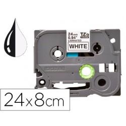 Ruban titreuse q-connect tze-251 blanc-noir 24 mm x 8 mt...