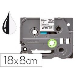 Ruban titreuse q-connect tze-241 blanc-noir 18 mm x 8 mt...