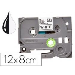 Ruban titreuse q-connect tze-231 blanc-noir 12 mm x 8 mt...