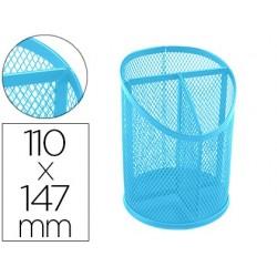 Pot a crayons q-connect maille metallique 3 compartiments...