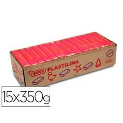 Pâte à modeler jovi plastilina végétale coloris rouge 350g