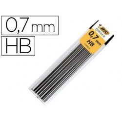 Mine bic 0.7mm hb étui 12 unités