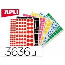 Gommette géométrique apli agipa 5 motifs 6 couleurs...
