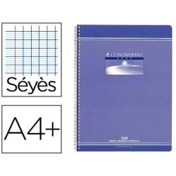 Cahier conquérant sept reliure intégrale couverture...