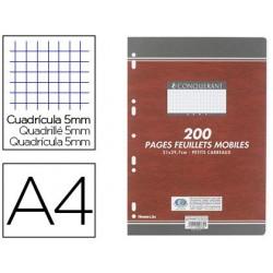 Feuillet mobile conquérant sept a4 210x297mm 200 pages...