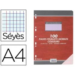 Feuillet mobile conquérant sept a4 210x297mm 100 pages...