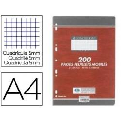 Copie double conquérant sept a4 210x297mm 200p 70g 5x5mm...