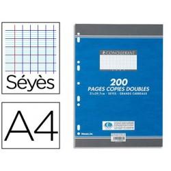Copie double conquérant sept a4 210x297mm 200p 70g séyès...