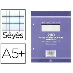 Copie double conquérant sept a5+ 170x220mm 200p 70g séyès...