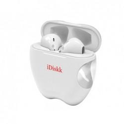 Ecouteurs duo iddisk bt5.0 iphone micro boitier avec...