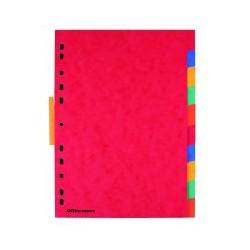 Intercalaire carte lustrée OD A4 (x10)