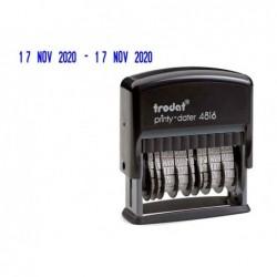 Tampon dateur double trodat printy 4816 pour cassette...