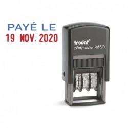Tampon dateur trodat 4850/l2 mini avec formule paye le...
