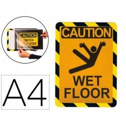 Porte-affiche a4 adh. avertis.