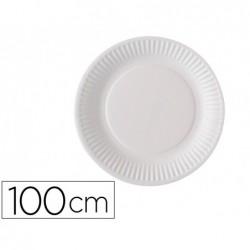 Assiette jet.carton plastifie paquet de 100