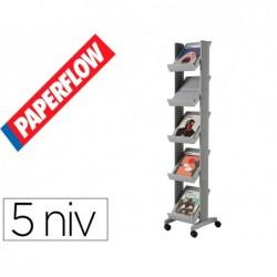 Presentoir comp. 1f/5 niv alu