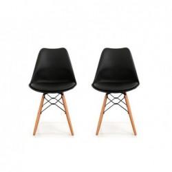 Lot 2 chaises dogewood noire