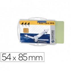 Porte-badge durable pour 2 cartes de securite format...